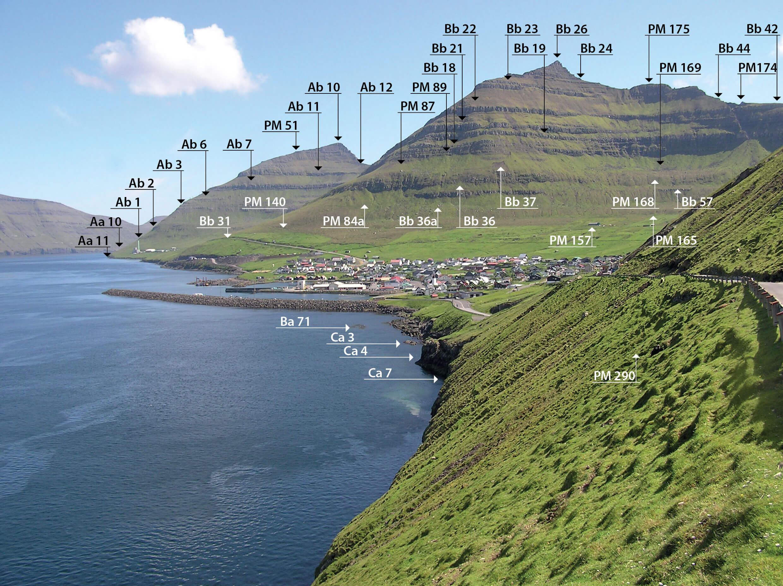 Staðarnøvn í Leirvík