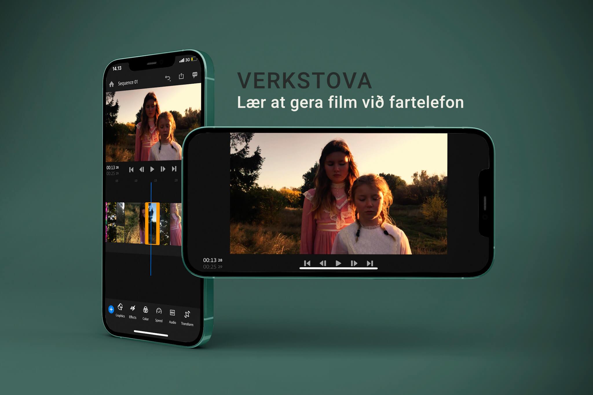 Verkstova - lær at gera film við fartelefon - Panorama 24. juni