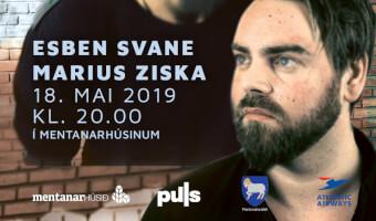 Marius Ziska og Esben Svane í Mentanarhúsinum