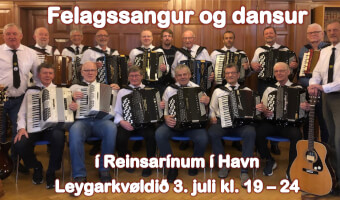 Harmonikukvøld við felagssangi & dansi